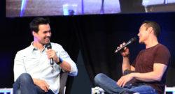 Brett Dalton (Marvel's Agents of S.H.I.E.L.D.) und Mark Dacascos (Marvel's Agents of S.H.I.E.L.D. / Hawaii Five-0 / The Crow / Stargate: Atlantis) im Panel / Comic Con Germany 2016 Stuttgart