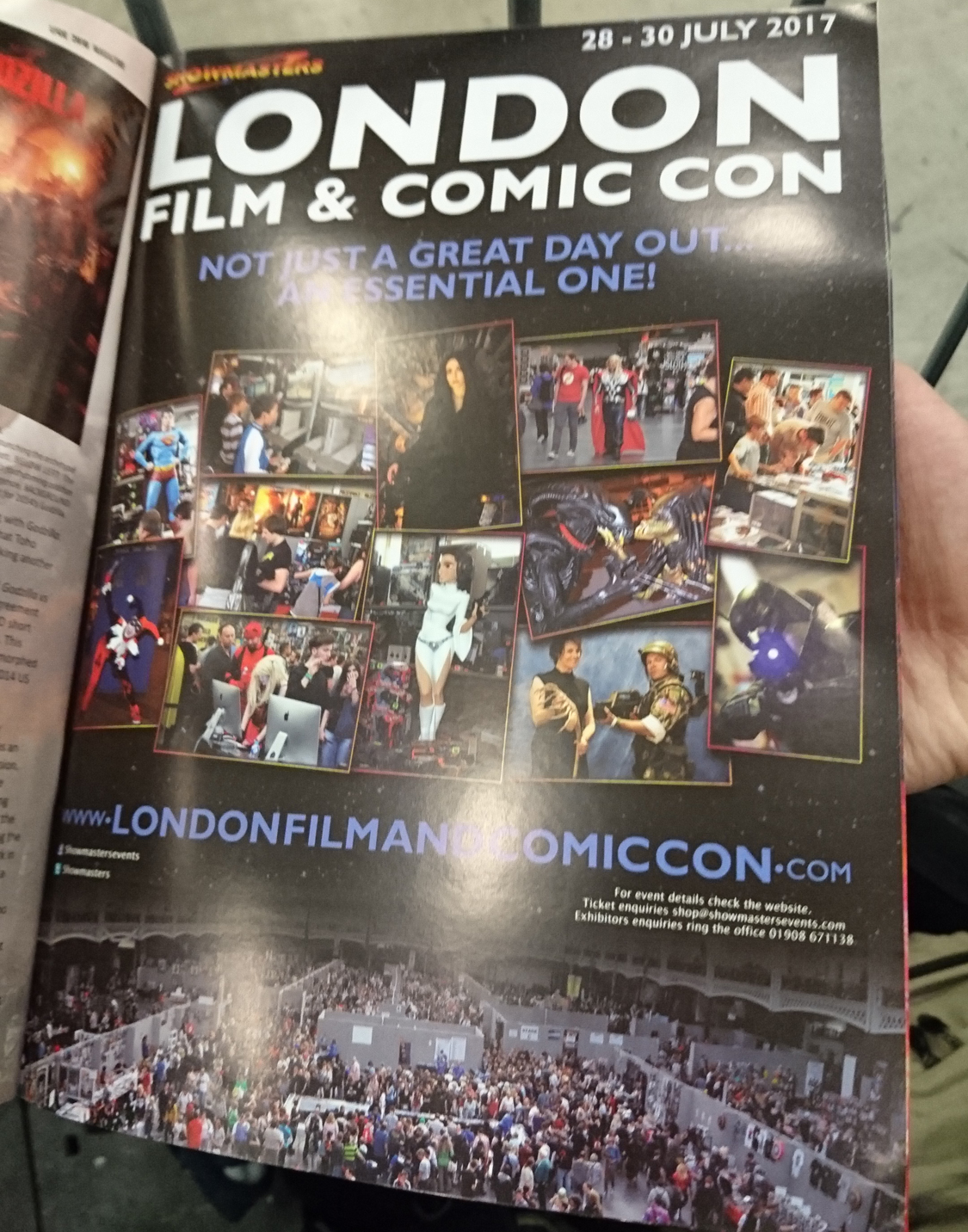 Termin für die London Film and Comic Con 2017 - LFCC 2017